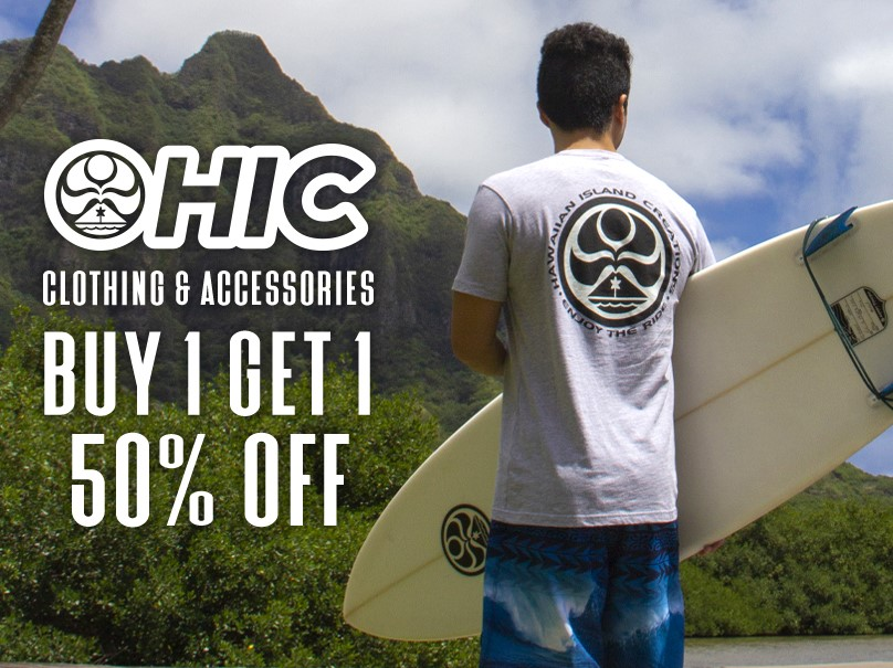 BOGO 50% off HIC Clothing & Accessories from Hawaiian Island Creations