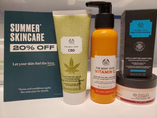 Skincare 20% off* from The Body Shop