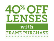 40% off lenses with frame purchase from Pearle Vision