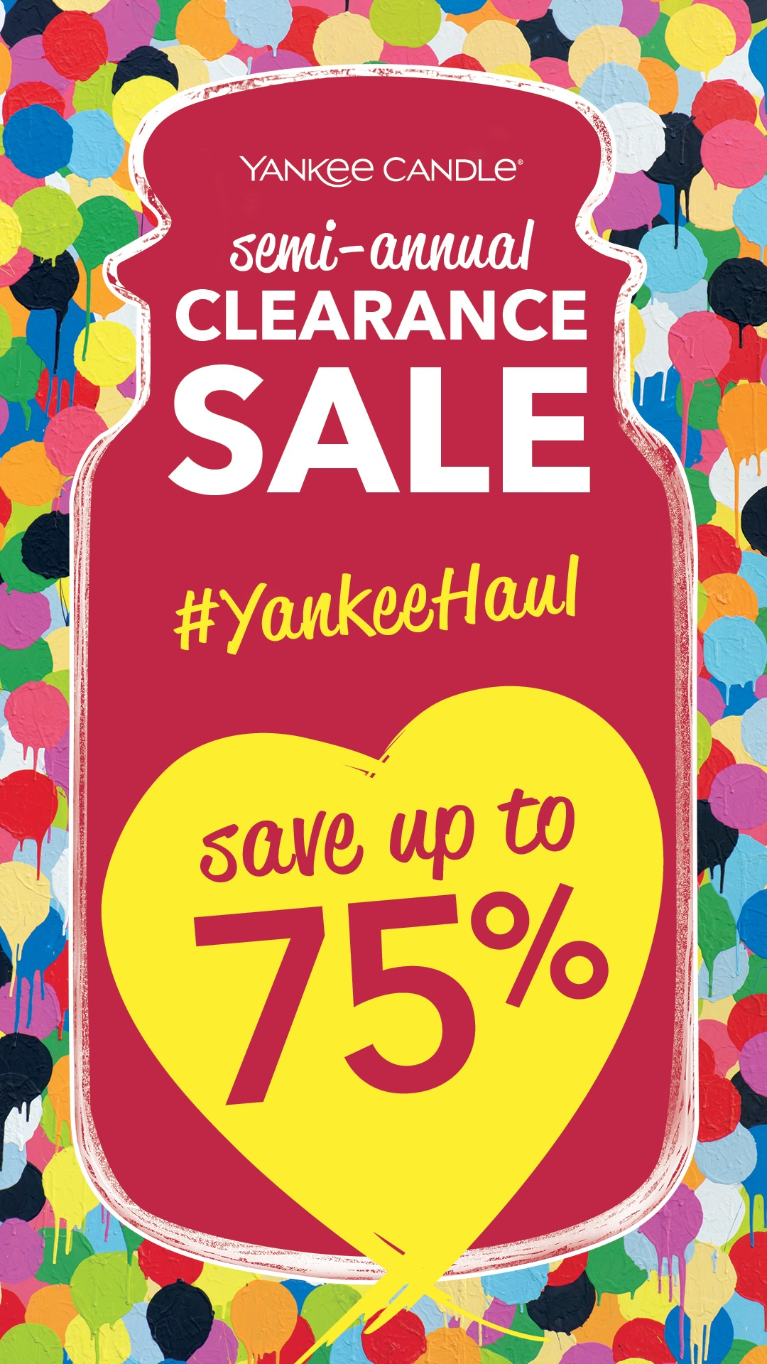 Semi Annual Clearance Sale from Yankee Candle