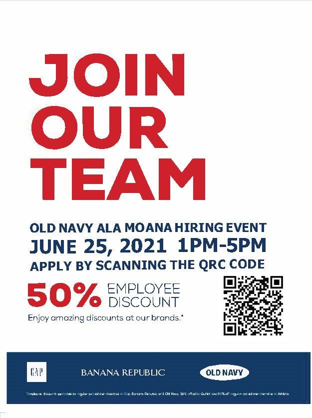 Old Navy Hiring Event from Old Navy
