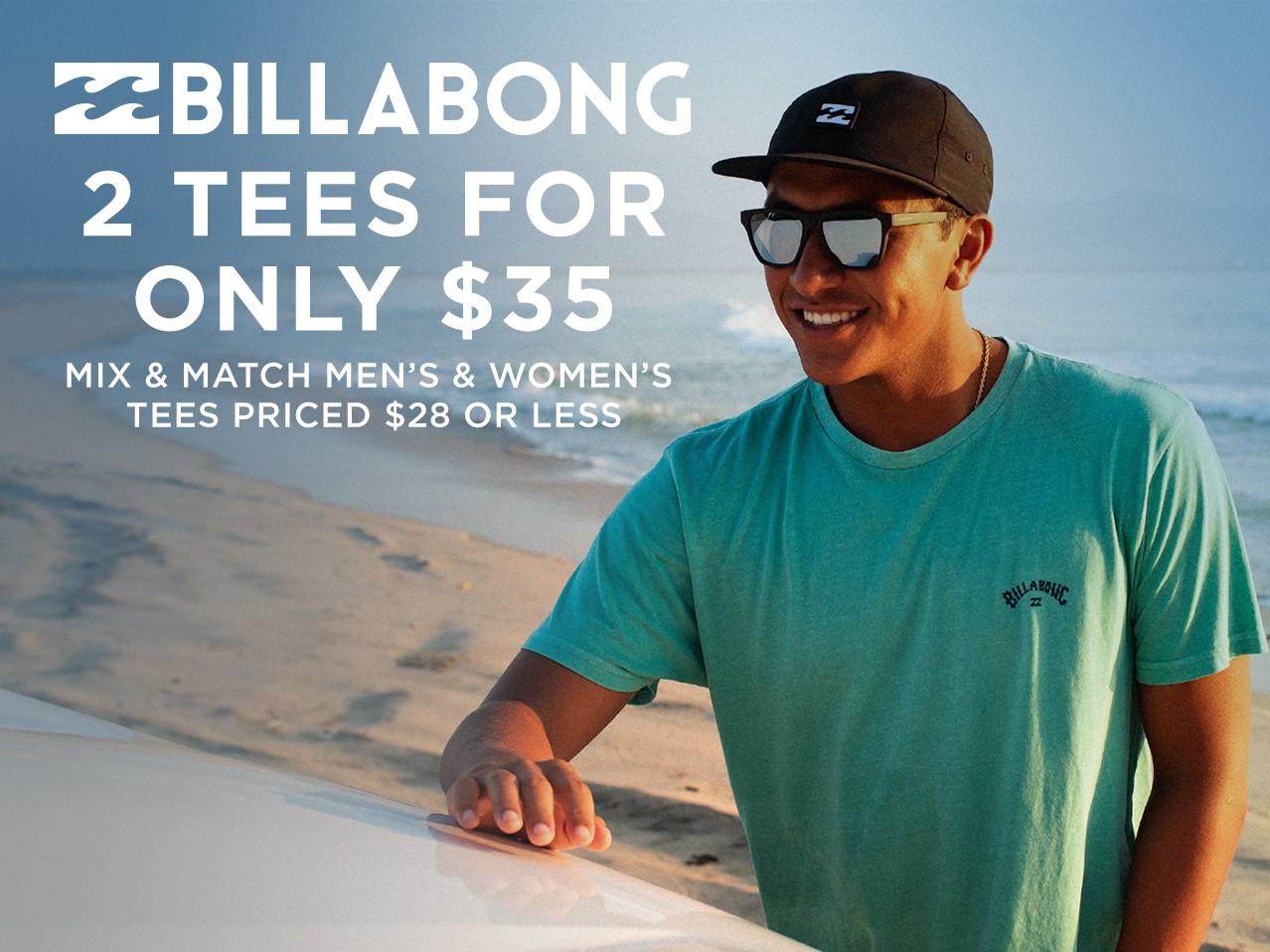 Billabong Tees & Tanks - Two For $35