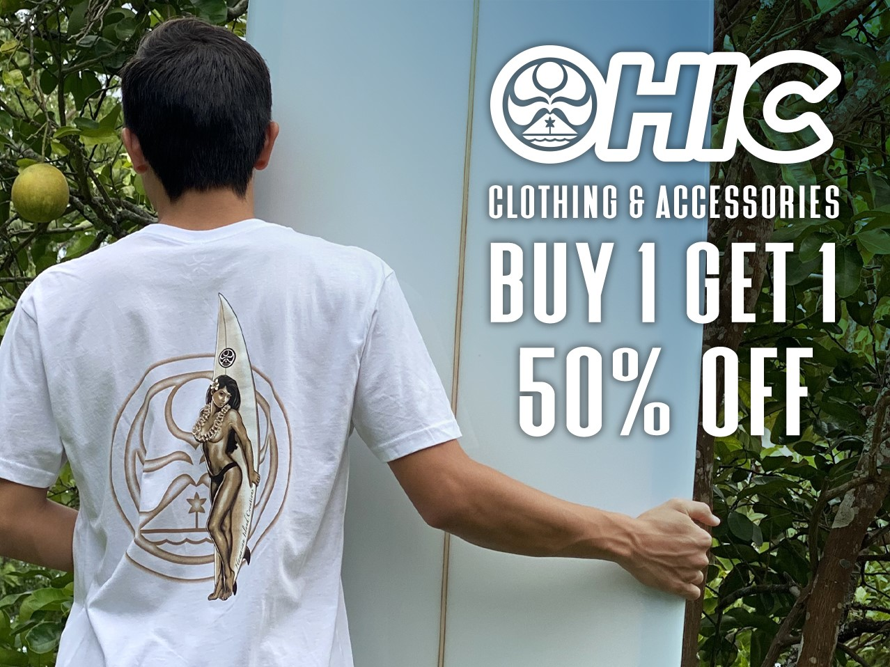 BOGO 50% Off All HIC Clothing & Accessories