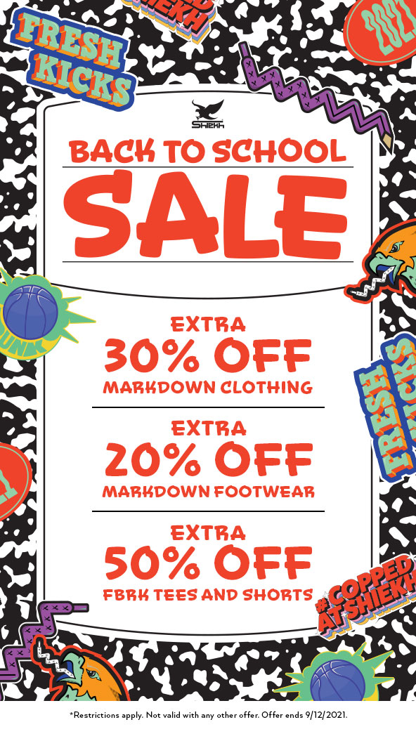 Back to School Sale from Shiekh Shoes