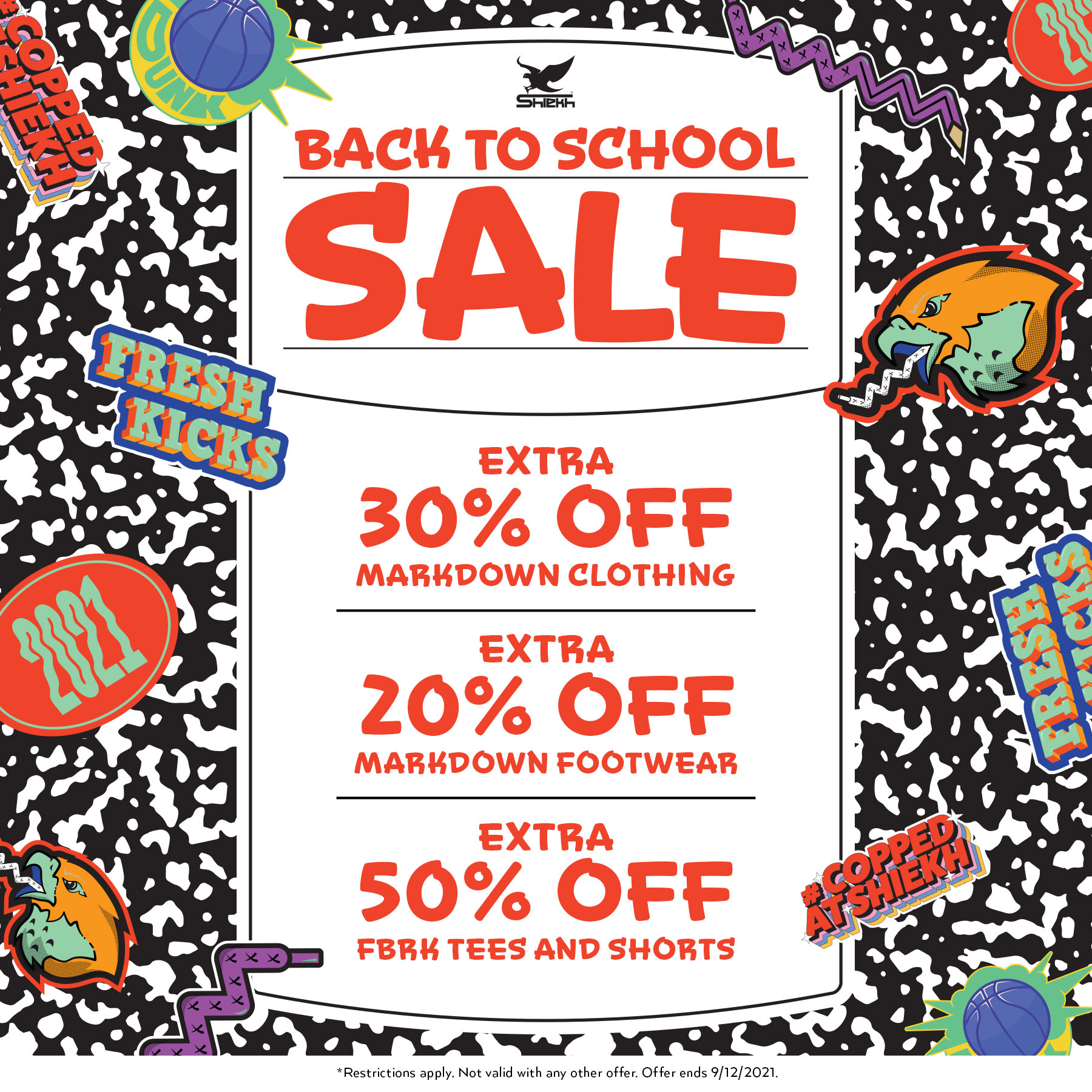 Back to school sale from Shiekh