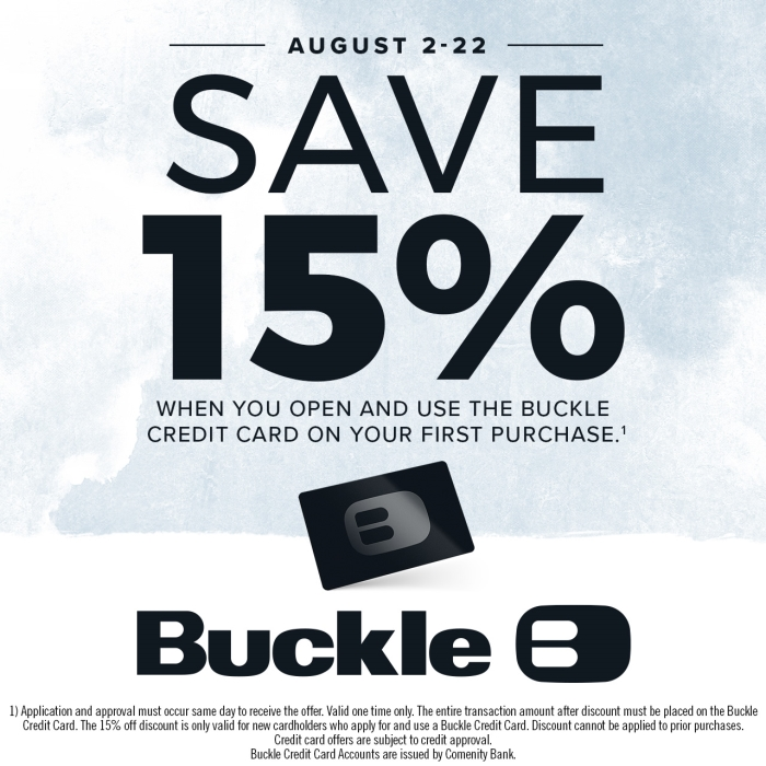 Save 15% from Buckle