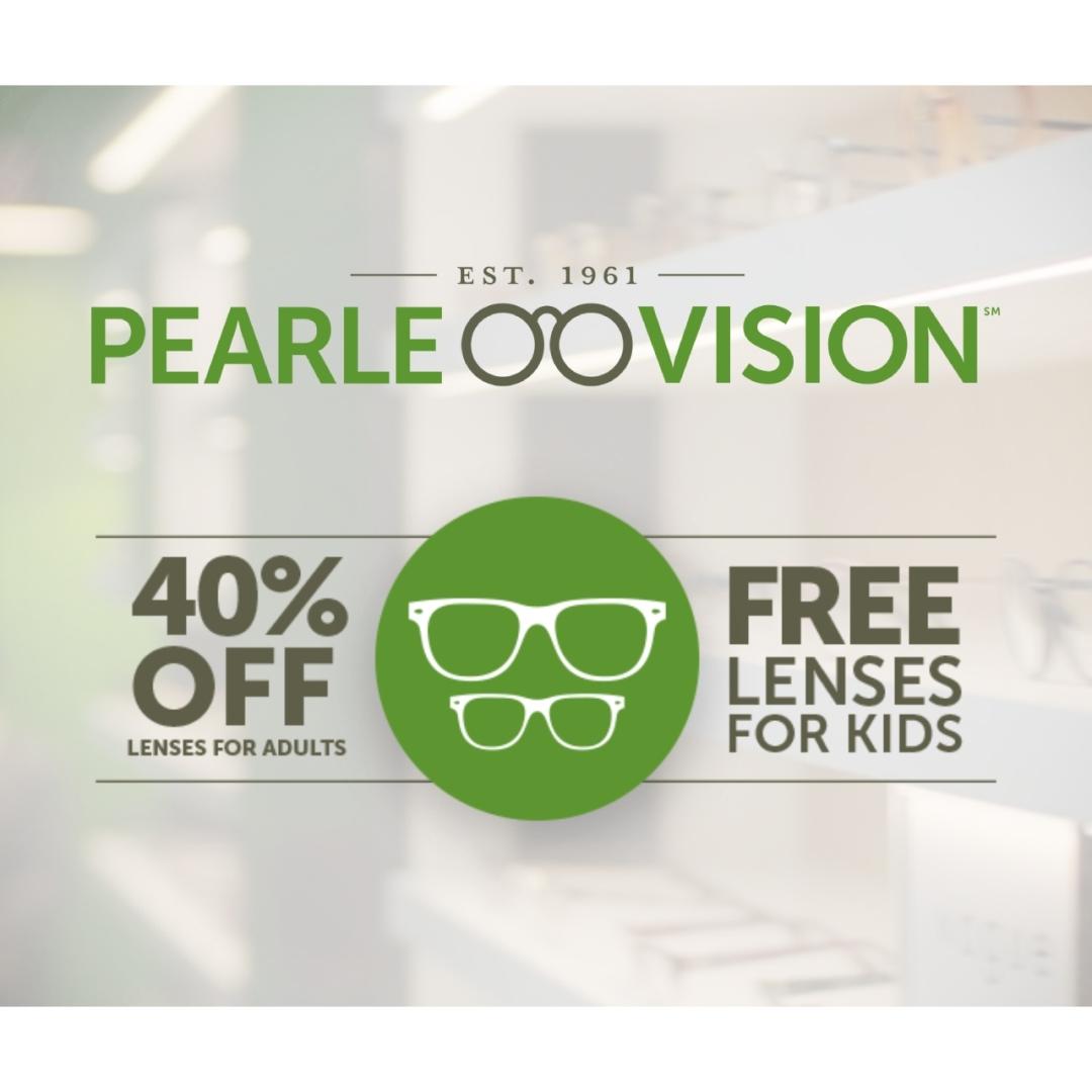 40% off lenses for adults & free lenses for kids
