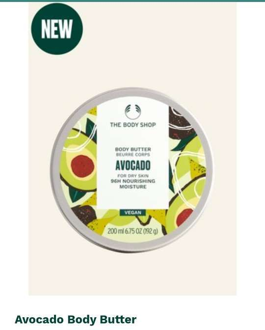 New Body Butter - 🥑 Avocado from The Body Shop