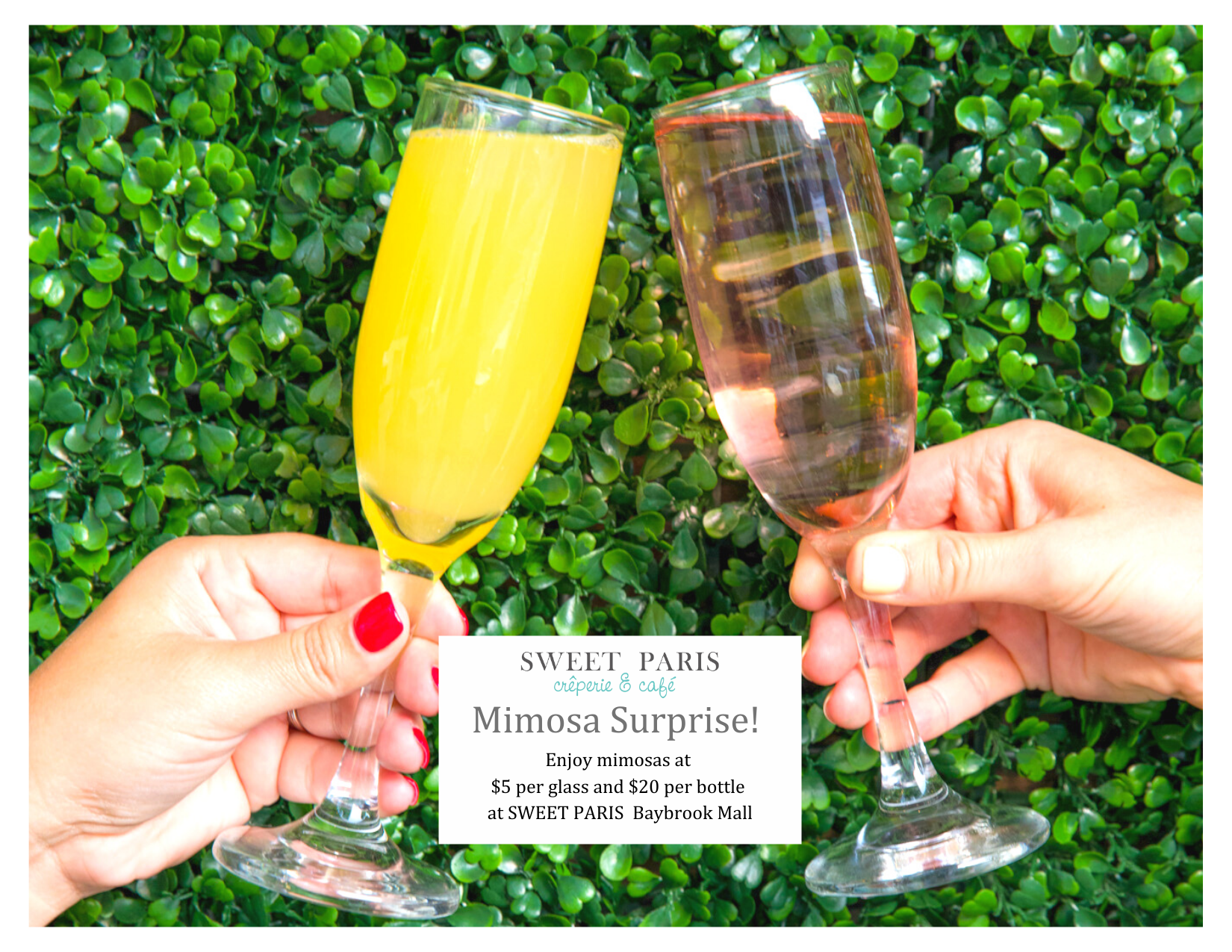 Mimosa Surprise! from Sweet Paris Creperie & Cafe