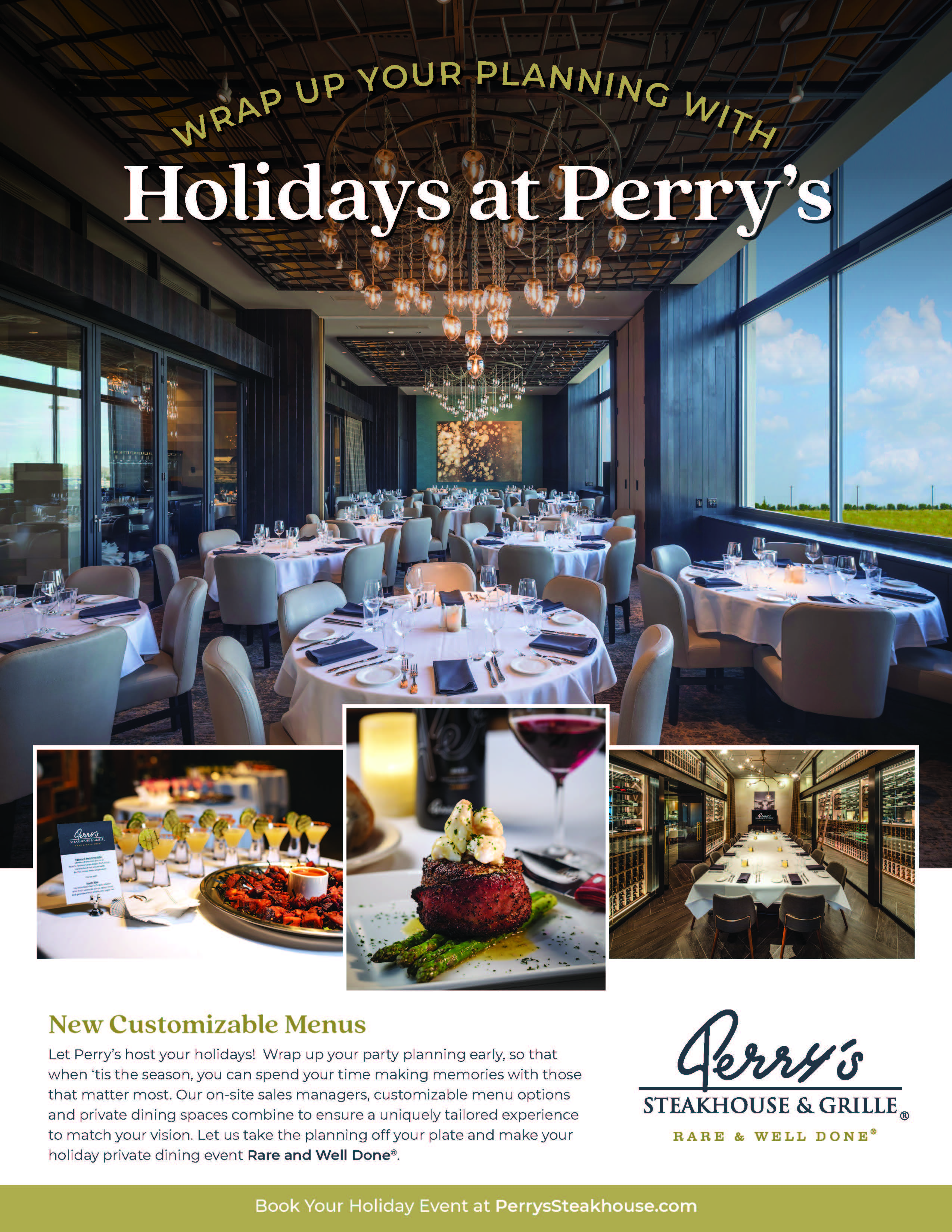Holiday Planning from Perry's Steakhouse & Grille
