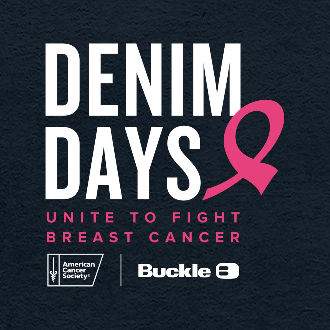 This October, unite with Buckle and the American Cancer Society in the fight against breast cancer. from Buckle