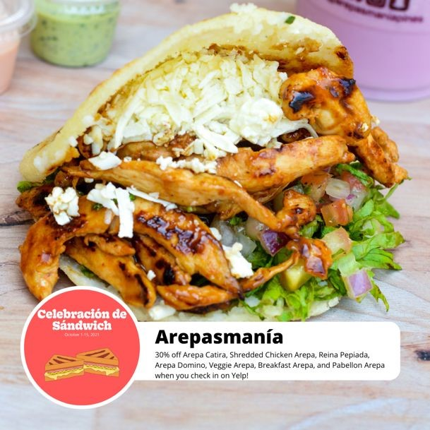 Lunch or Dinner is Calling Your Name at Arepasmania from Arepasmania
