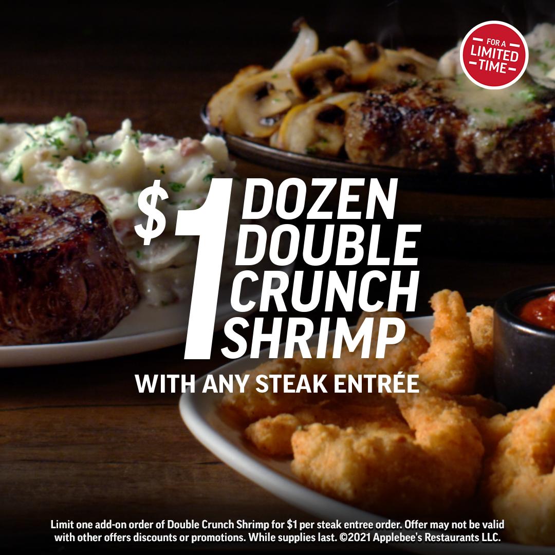 Steak & Shrimp Offer from Applebee's