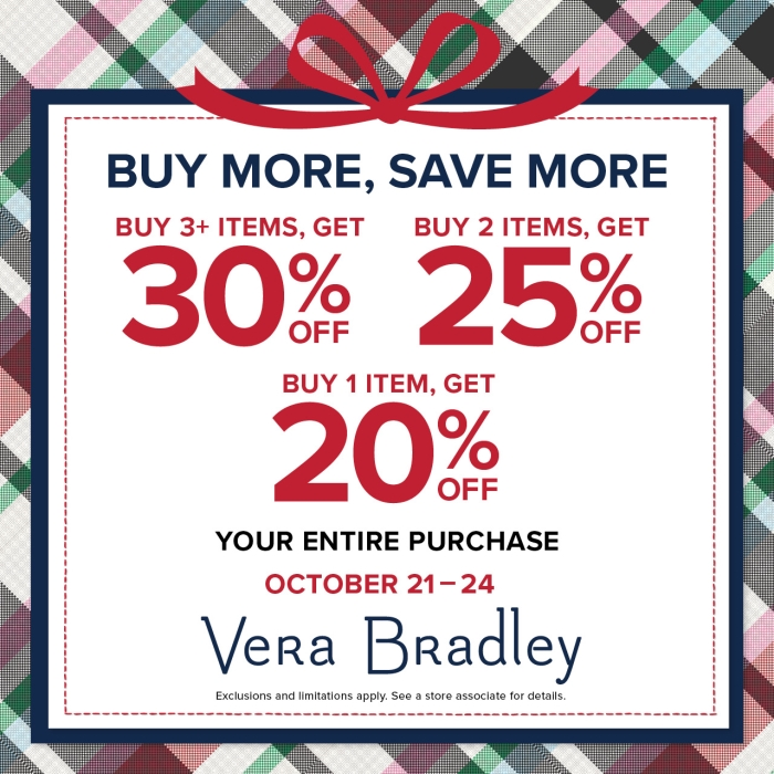The More the Merrier from Vera Bradley