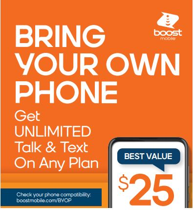 Unlimited Talk & Text on Any Plan from Boost Mobile