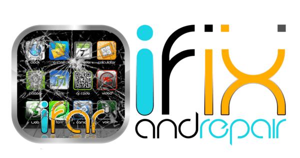 Ifixandrepair + Gear Logo