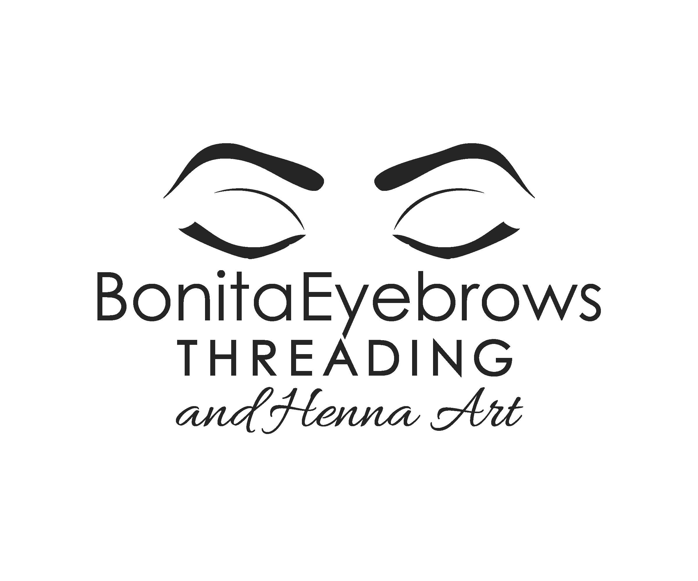 Bonita Eyebrows Threading And Henna Art Logo