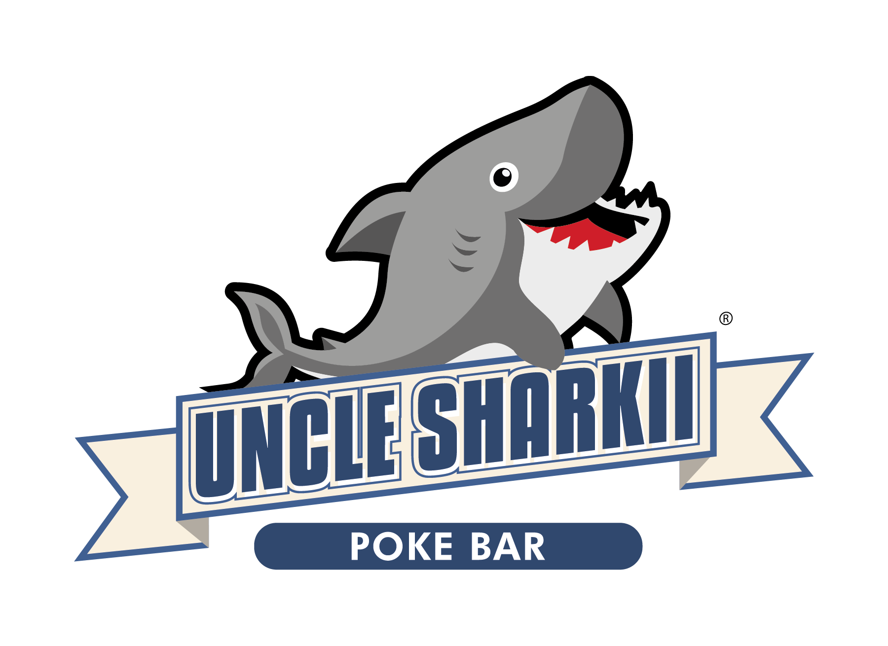 Uncle Sharkii Poke Bar Logo
