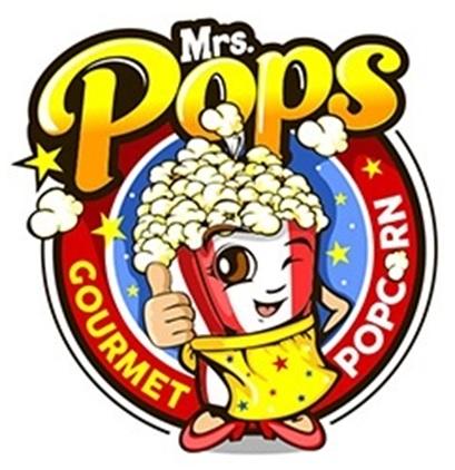 Mrs. Pops Gourmet Popcorn                Logo
