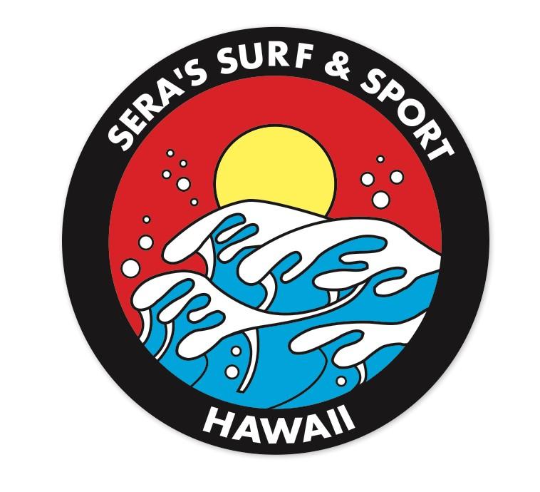 Sera's Surf 'N Shore                     Logo